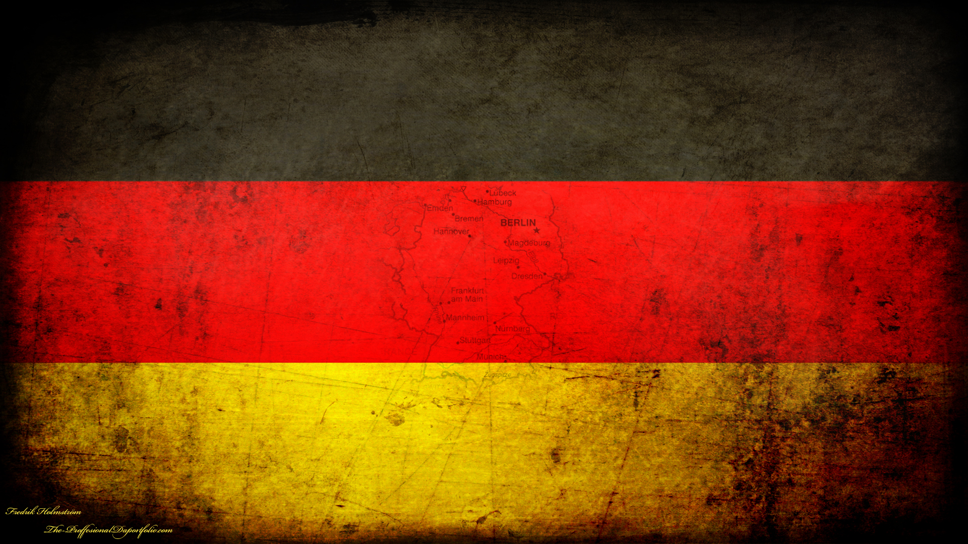 German Grunge National Flag